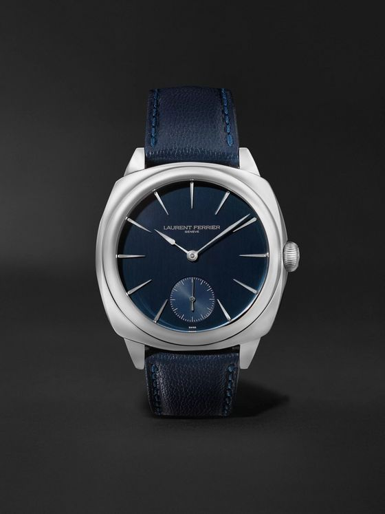Laurent Ferrier Square Automatic 41mm Stainless Steel and Leather Watch, Ref. No. LCF013.AC.CG2.1