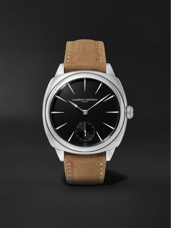 Laurent Ferrier Square Automatic 41mm Stainless Steel and Alcantara Watch, Ref. No. LCF013.AC.N1G.1