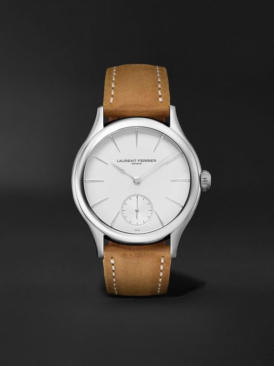 Laurent Ferrier Classic Micro-Rotor Automatic 40mm Stainless Steel and Leather Watch, Ref. No. LCF004.AC.G1G1.1