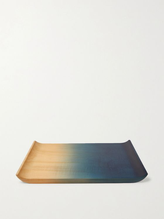 BY JAPAN + Aola Indigo-Dyed Wood Sharing Plate