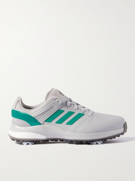 ADIDAS GOLF EQT Wide Rubber and Mesh Golf Sneakers