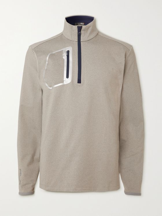 RLX Ralph Lauren Fleece-Back Tech-Jersey Half-Zip Golf Sweatshirt