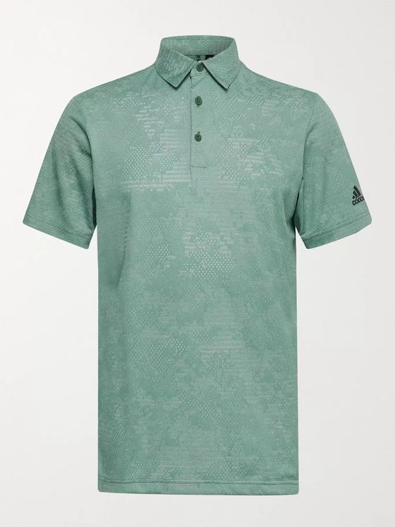 ADIDAS GOLF Mélange Recycled Primegreen Golf Polo Shirt