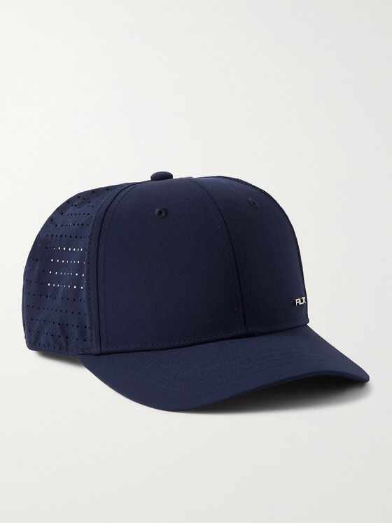 RLX Ralph Lauren Logo-Appliquéd Perforated Recycled Shell Golf Cap