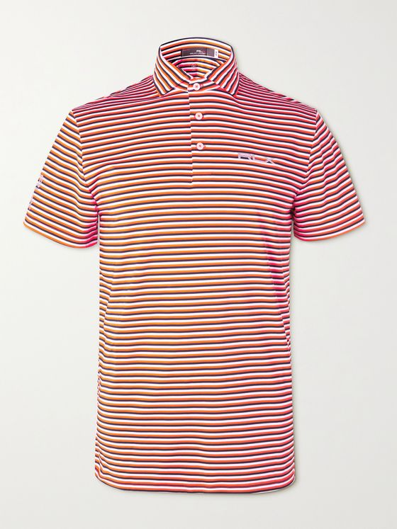 RLX Ralph Lauren Airflow Striped Stretch-Jersey Golf Polo Shirt