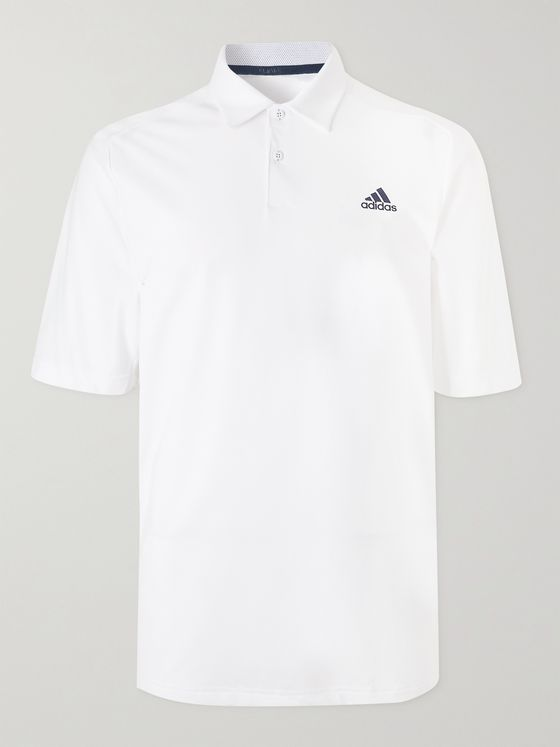 ADIDAS GOLF Stripe-Trimmed HEAT.RDY Golf Polo Shirt