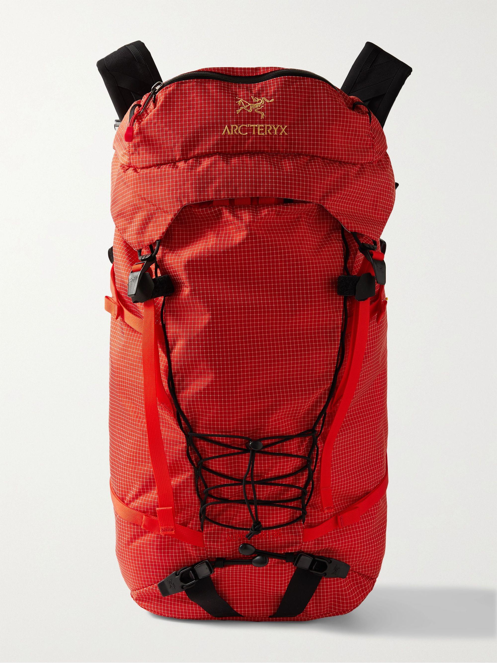 아크테릭스 로고 백팩 ArcTeryx Alpha AR 35 Ripstop Backpack,Red