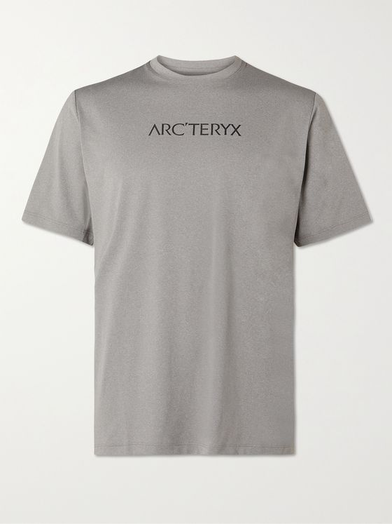 Arc'teryx Remige Word Logo-Print Mélange Stretch-Jersey T-Shirt