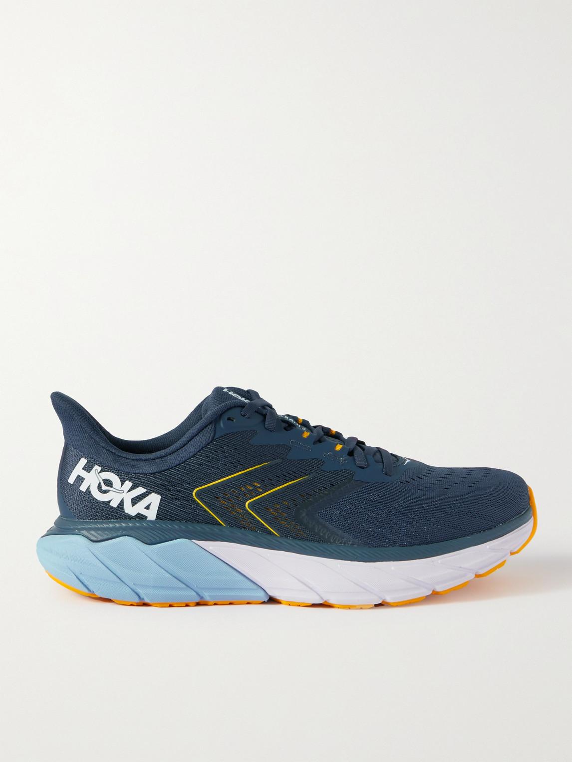 Hoka One One Shoes ARAHI 5 RUBBER-TRIMMED MESH RUNNING SNEAKERS