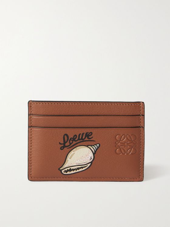 LOEWE + Paula's Ibiza Printed Full-Grain Leather Cardholder