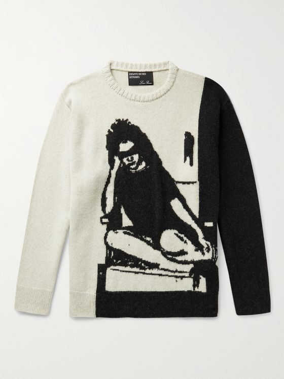 Enfants Riches Déprimés Intarsia Cashmere Sweater