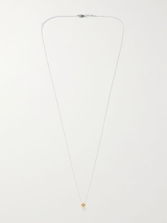 LE GRAMME Entrelacs Le 1 Sterling Silver and 18-Karat Gold Pendant Necklace