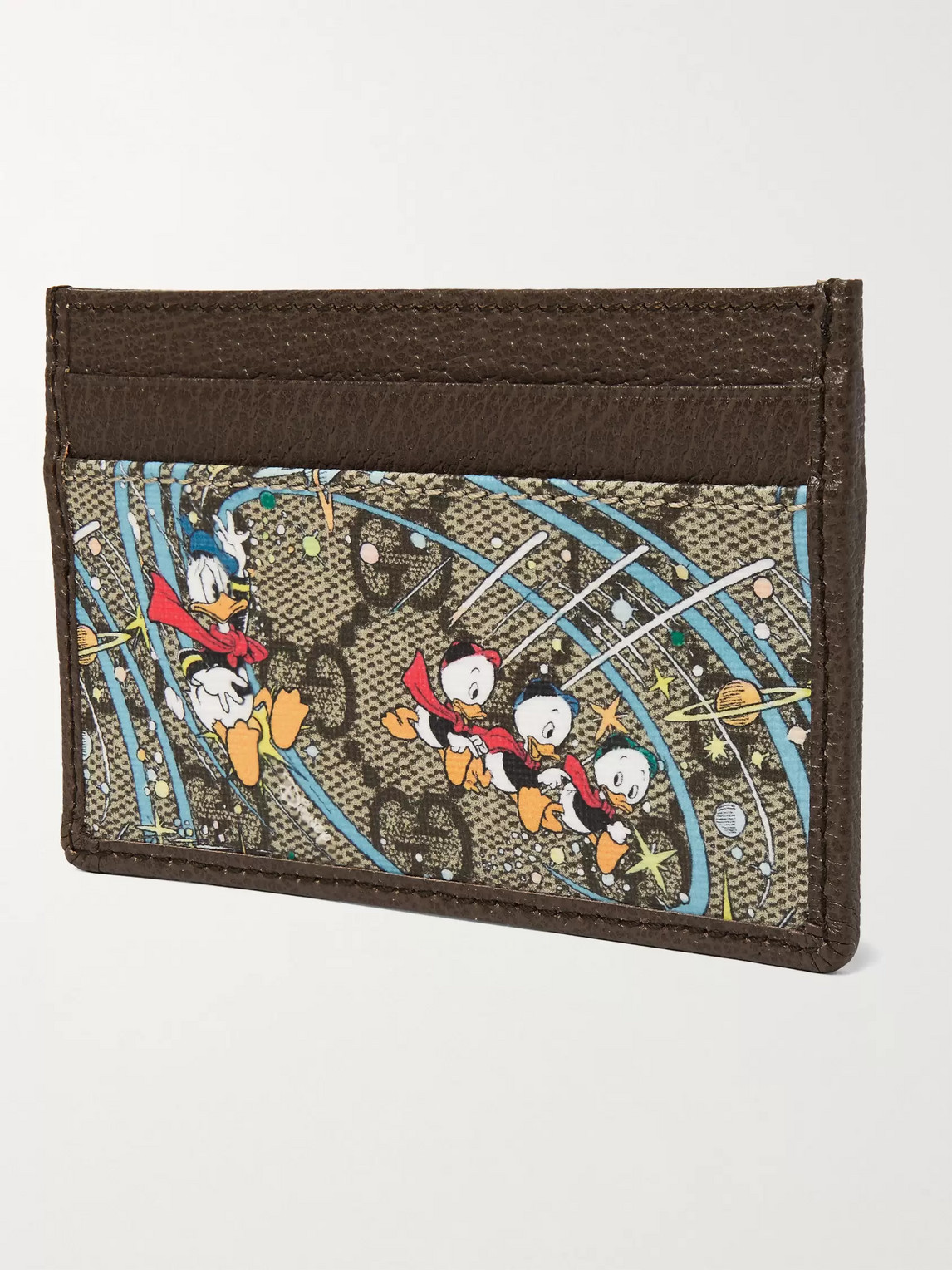 GUCCI Cardholders DISNEY PRINTED COATED-CANVAS AND LEATHER CARDHOLDER