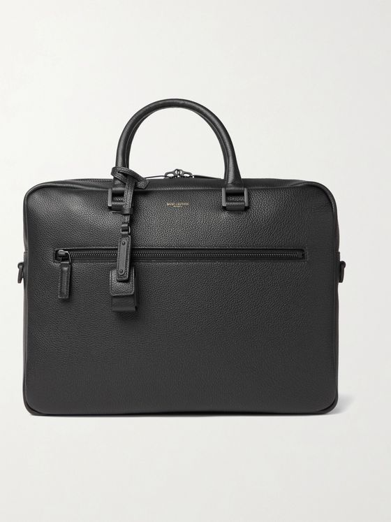 SAINT LAURENT Sac de Jour Full-Grain Leather Briefcase