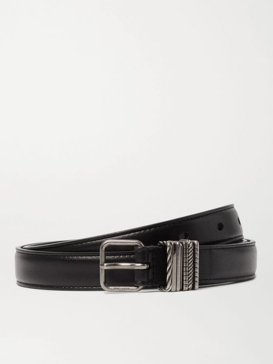 SAINT LAURENT 2cm Leather Belt