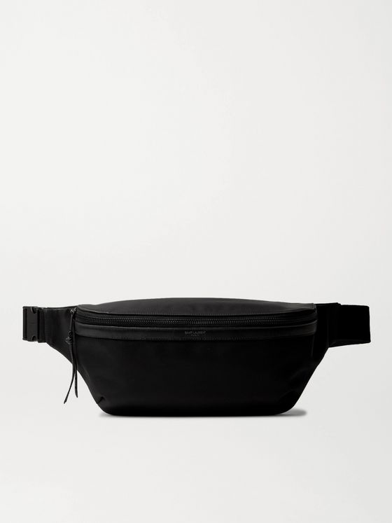 SAINT LAURENT Leather-Trimmed Nylon Belt Bag