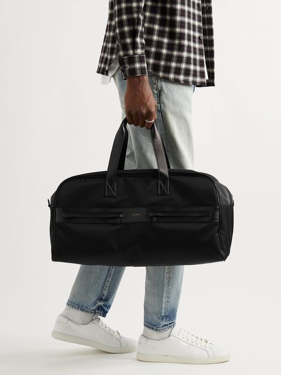 SAINT LAURENT Camp Leather-Trimmed Shell Holdall