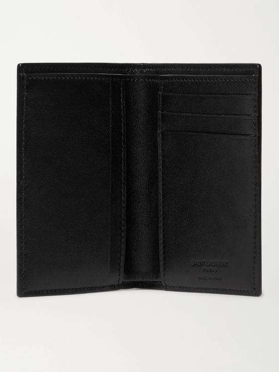 SAINT LAURENT Logo-Debossed Leather Bifold Wallet
