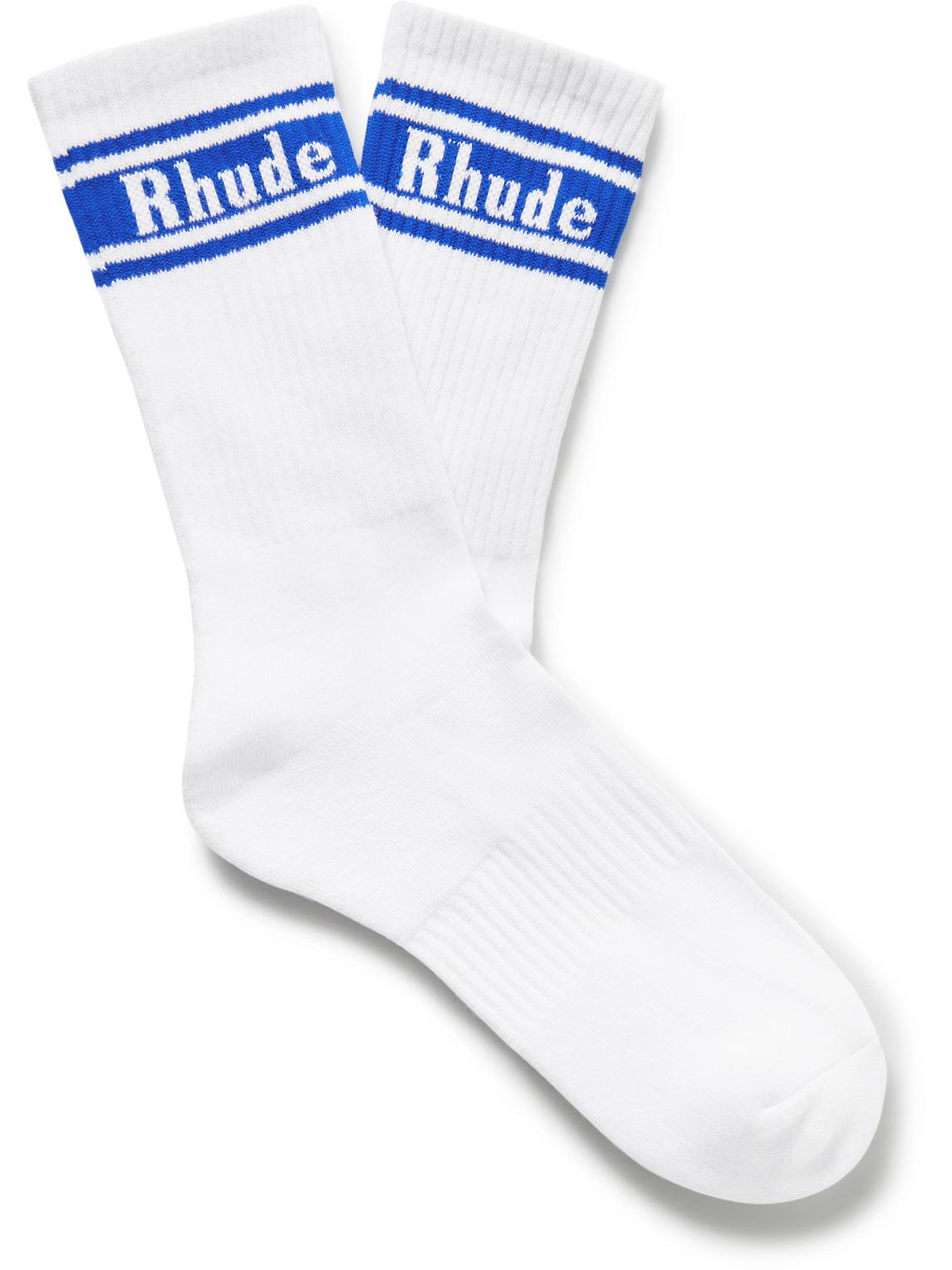 McLaren Ribbed Logo-Jacquard Cotton-Blend Socks
