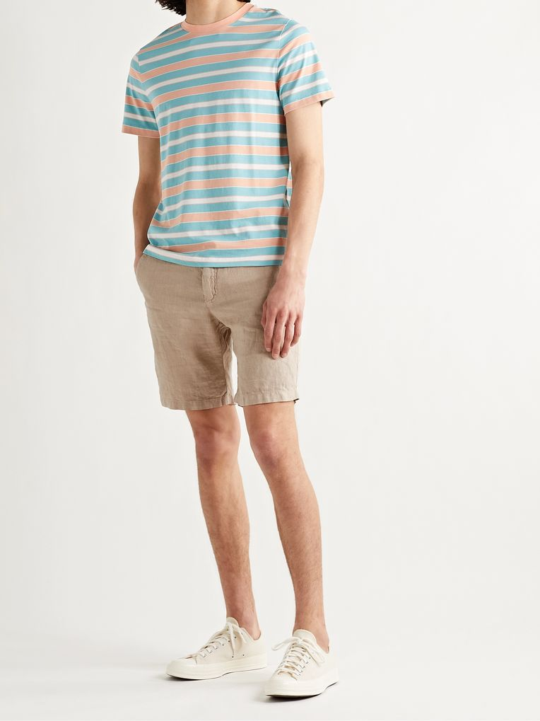 Hartford Slim-Fit Linen-Chambray Drawstring Shorts