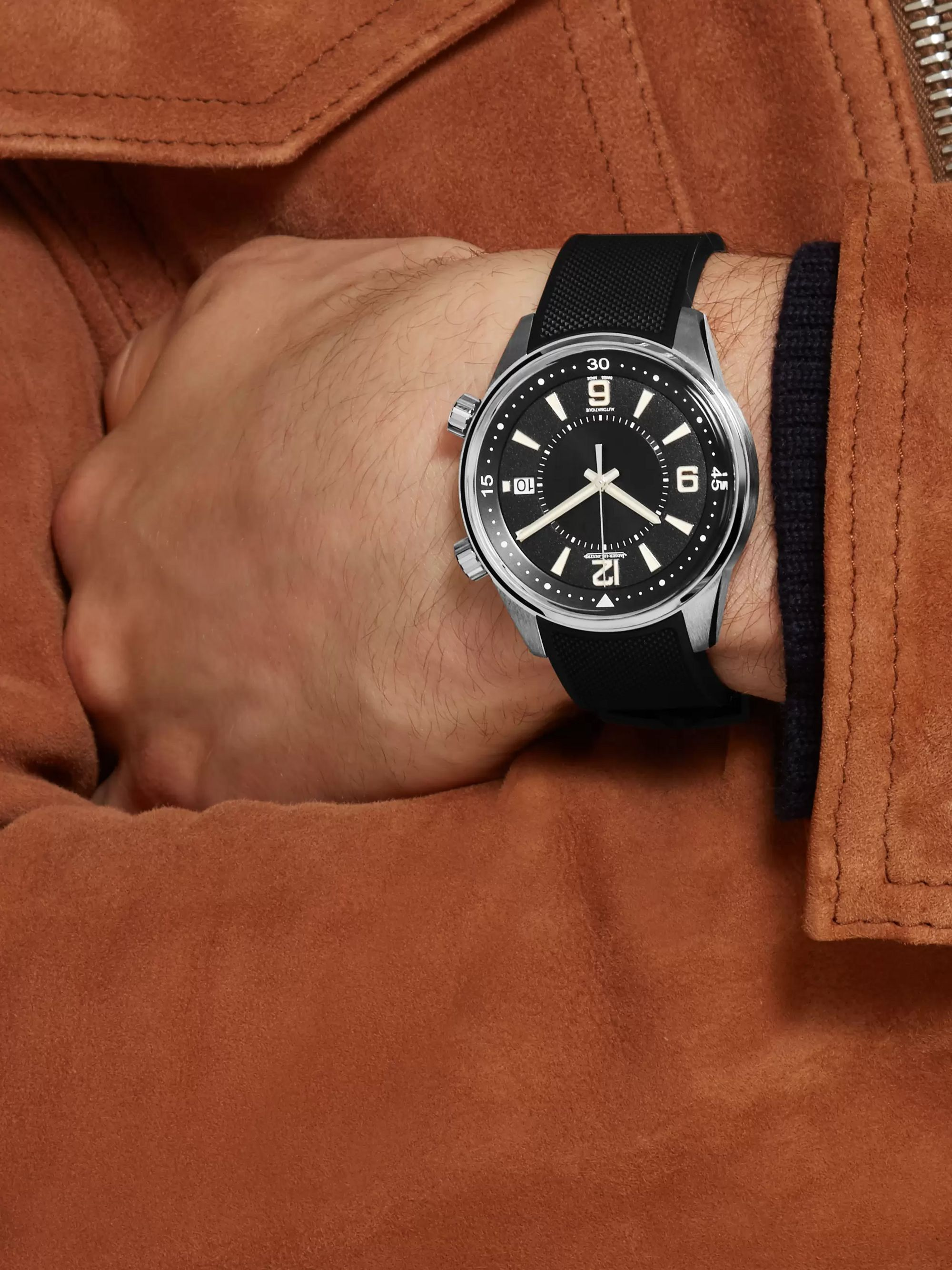 Jaeger-LeCoultre Polaris Date 42mm Stainless Steel and Rubber Watch