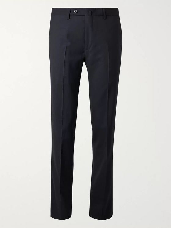 RUBINACCI Slim-Fit Satin-Trimmed Virgin Wool Tuxedo Trousers