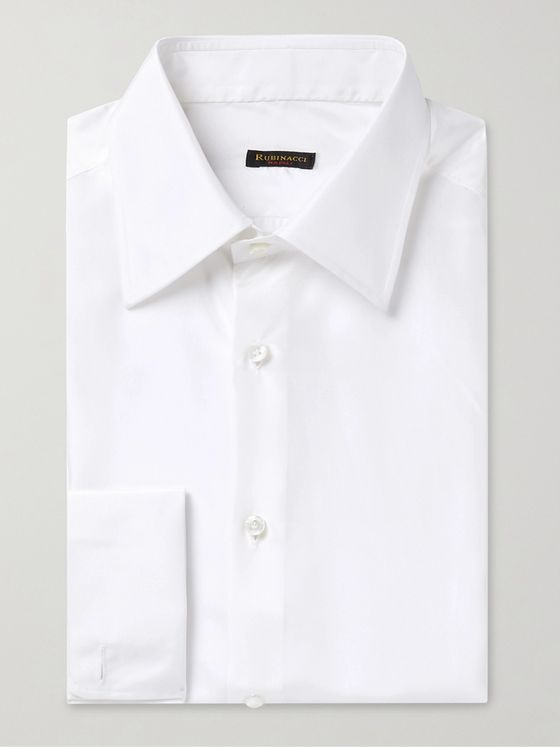 RUBINACCI Double-Cuff Silk Shirt
