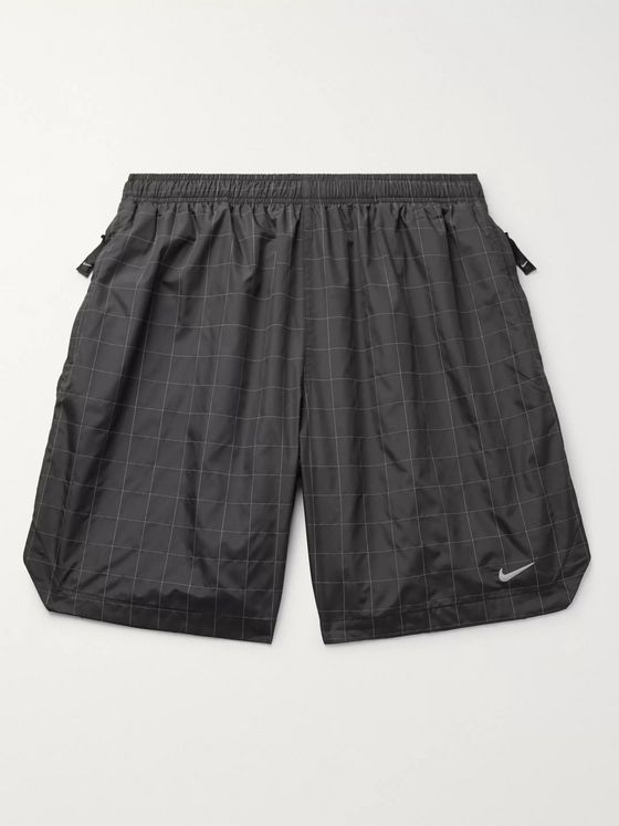 Nike Flash Wide-Leg Printed Shell Shorts