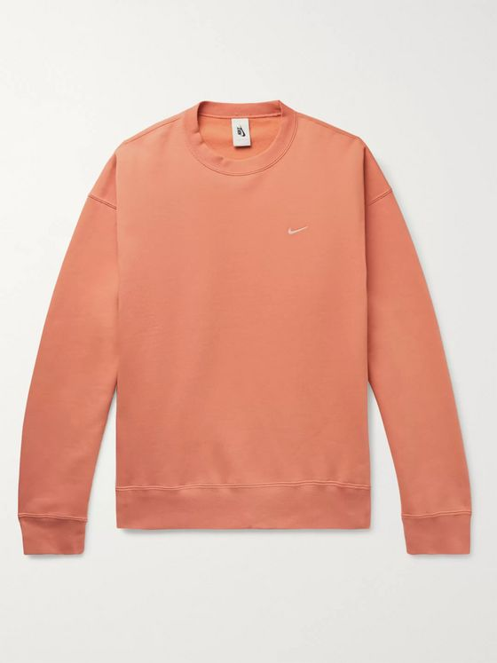 Nike NRG Fleece-Back Cotton-Blend Jersey Sweatshirt