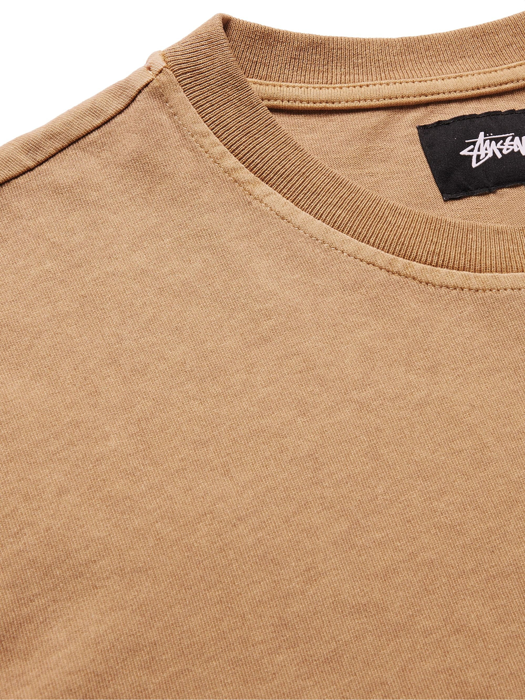 STÜSSY River Logo-Embroidered Cotton-Jersey T-Shirt
