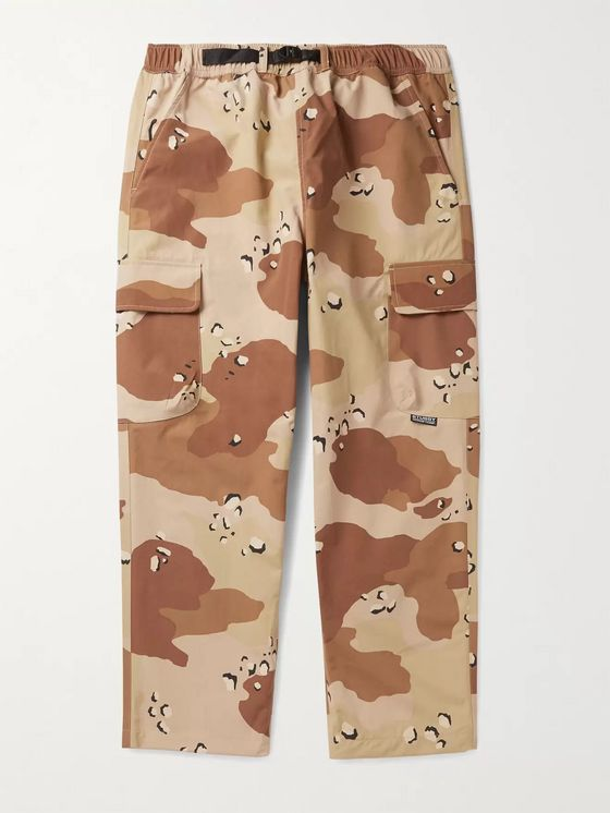 Stüssy Belted Camouflage-Print Nylon Cargo Trousers
