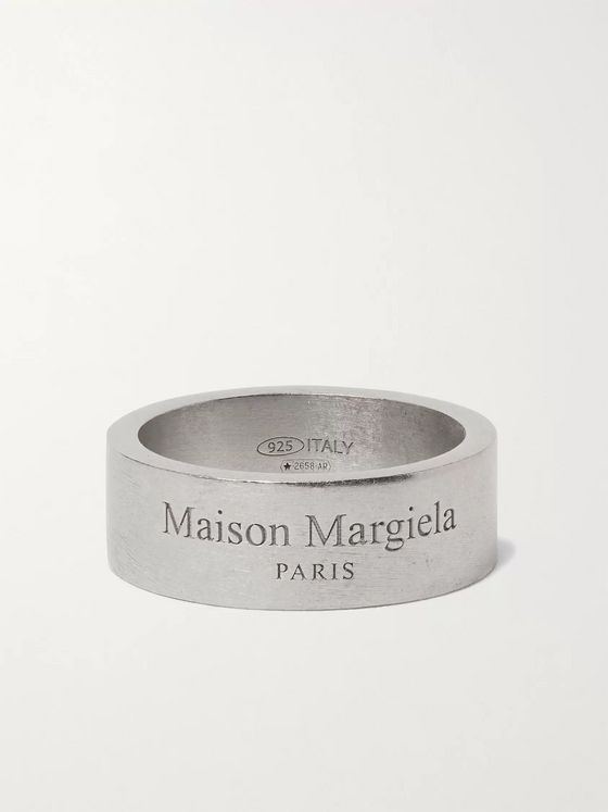 MAISON MARGIELA Logo-Engraved Sterling Silver Ring