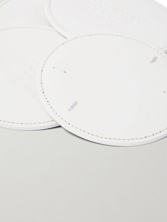MAISON MARGIELA Set of Six Leather Coasters
