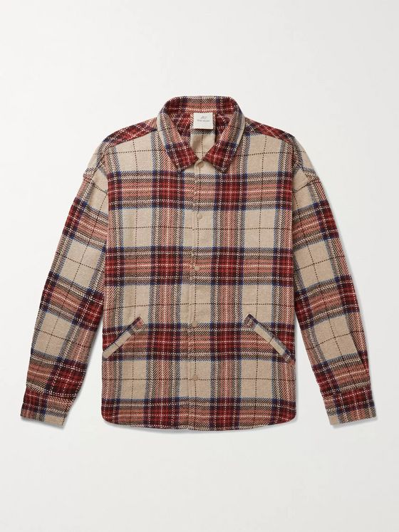 Remi Relief Jazz Checked Nep Cotton and TENCEL-Blend Overshirt
