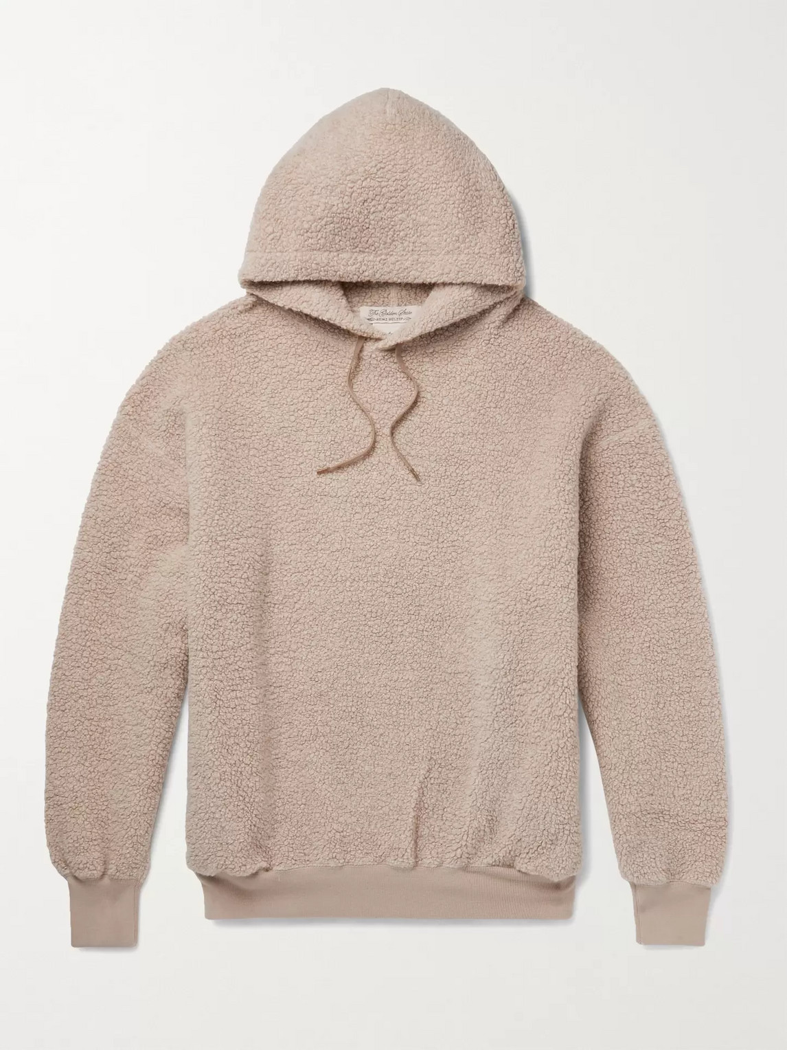 Remi Relief Oversized Wool-blend Fleece Hoodie In Pink