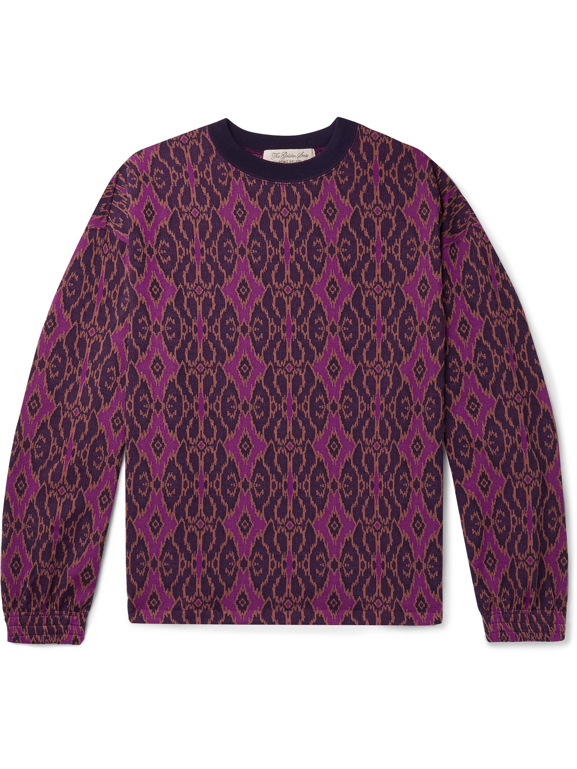 remi relief - jacquard-knit sweatshirt - men - purple - m
