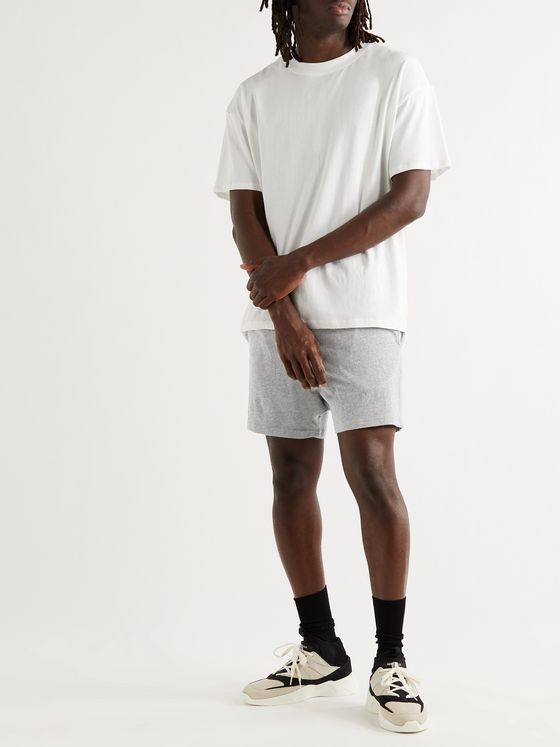 FEAR OF GOD ESSENTIALS Mélange Cotton-Blend Jersey Shorts