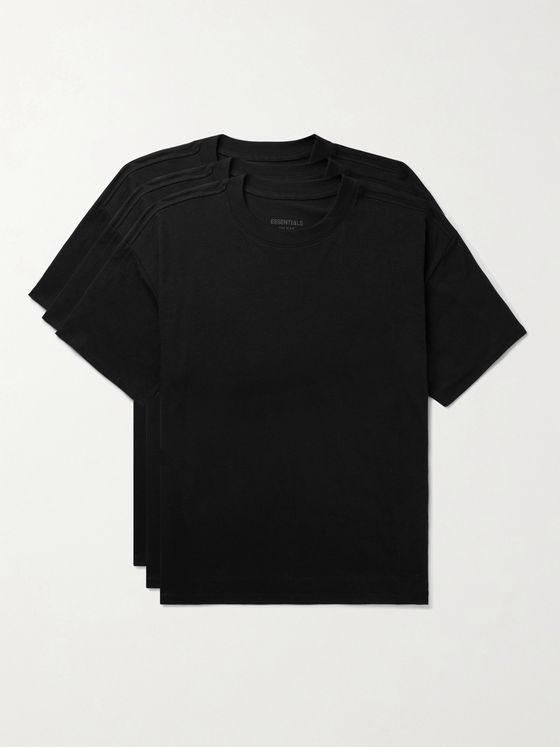 Fear of God Essentials Three-Pack Cotton-Blend Jersey T-Shirts