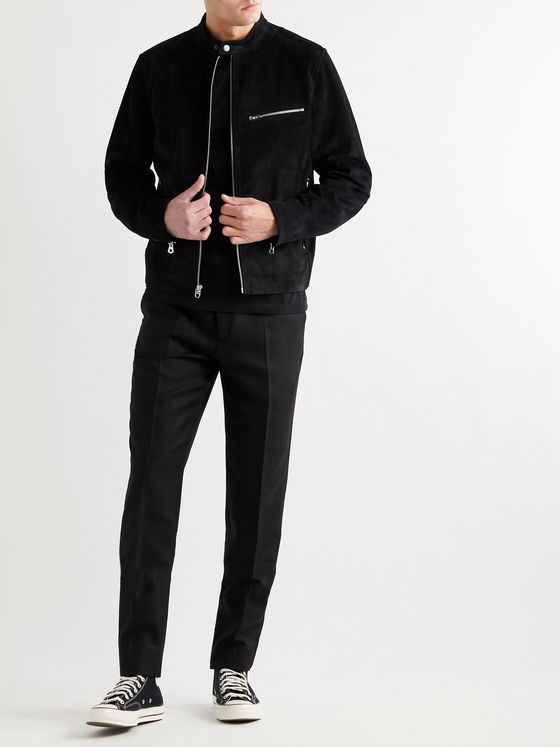 RAG & BONE Slim-Fit Suede Biker Jacket