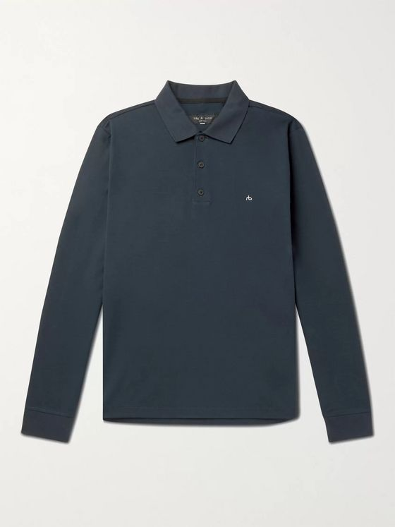 RAG & BONE Logo-Embroidered Cotton Polo Shirt