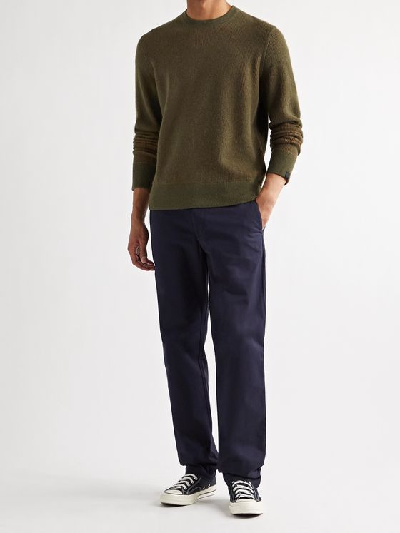 RAG & BONE Finch Reversible Wool and Cashmere-Blend Sweater