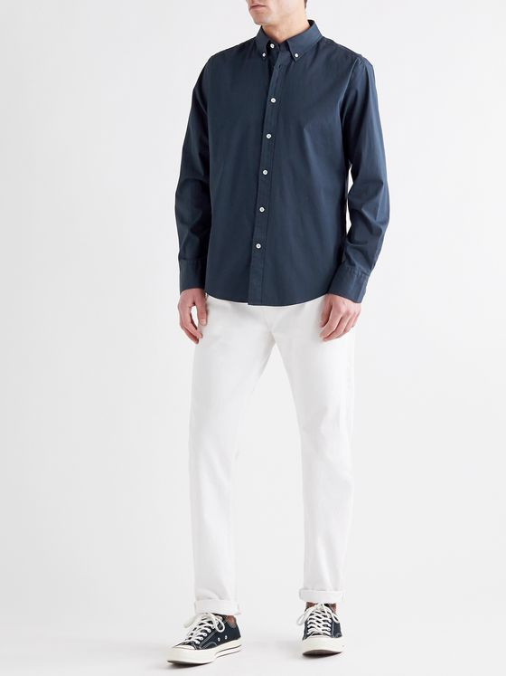 RAG & BONE Tomlin Slim-Fit Button-Down Collar Cotton-Blend Poplin Shirt