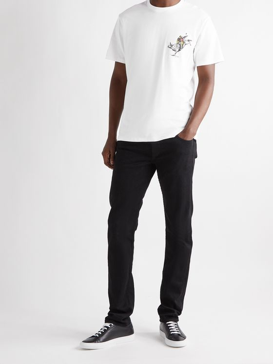RAG & BONE Logo-Print Cotton-Jersey T-Shirt