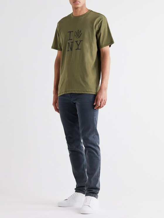 RAG & BONE Slim-Fit Printed Cotton-Jersey T-Shirt
