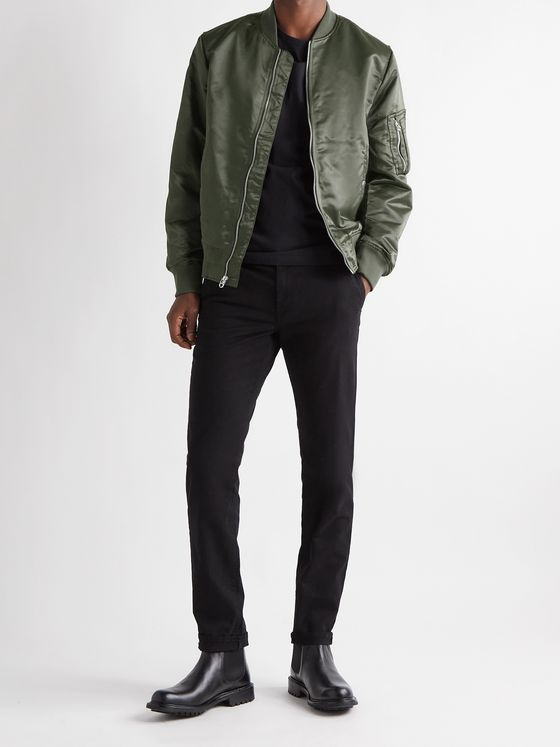 RAG & BONE Manston Padded Nylon Bomber Jacket