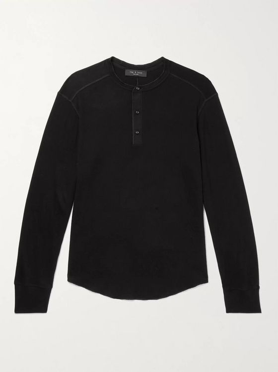 RAG & BONE Gibson Cotton-Jersey Henley T-Shirt