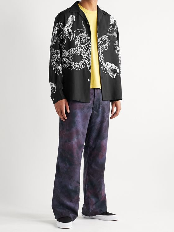 WACKO MARIA Camp-Collar Printed Lyocell Shirt