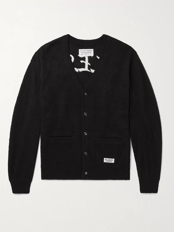 WACKO MARIA Embroidered Knitted Cardigan