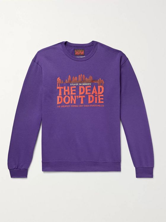 WACKO MARIA + The Dead Don't Die Printed Fleece-Back Cotton-Blend Jersey Sweatshirt