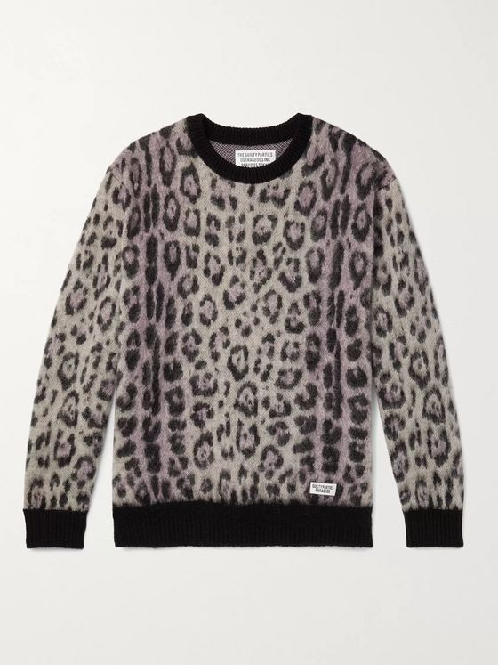 WACKO MARIA Jaguar-Jacquard Knitted Sweater